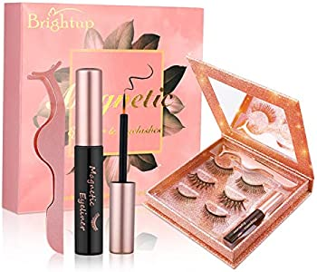 Brightup Magnetic Eyelashes Kit with Eyeliner
