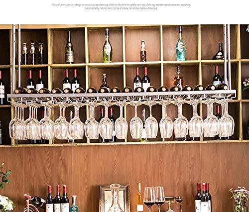 cyxb Estante para Copas de Vino, Tenedor de la Taza Colgante de la Barra, Estante de Vino, Estante de la Taza de Vino Rojo Dorado, Estante de Vino de Alto pie-Plata_80cm * 30cm