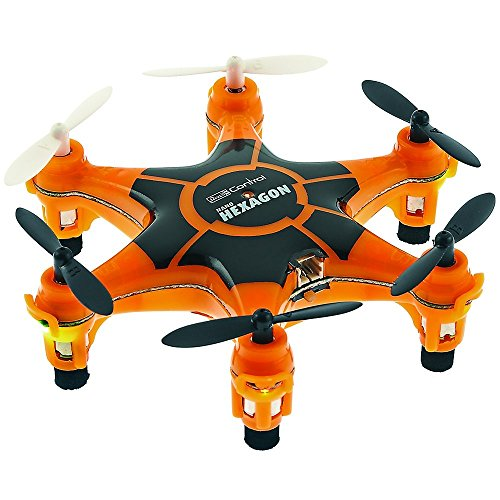 Revell Germany Electric Powered 2.4GHz Radio Controlled Ready to Fly Nano Hexagon Drone (Orange)