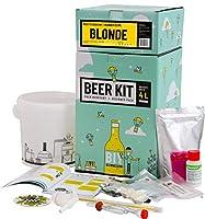 Brassez 4 Litres d'une bière blonde à partir d'extrait de malt. Taux d'alcool estimé 6%. Ce Beer Kit débutant vous permet de brasser votre propre bière blonde à la maison. Le brassage à partir d'extrait de malt en poudre vous permet d'avoir 100% de c...