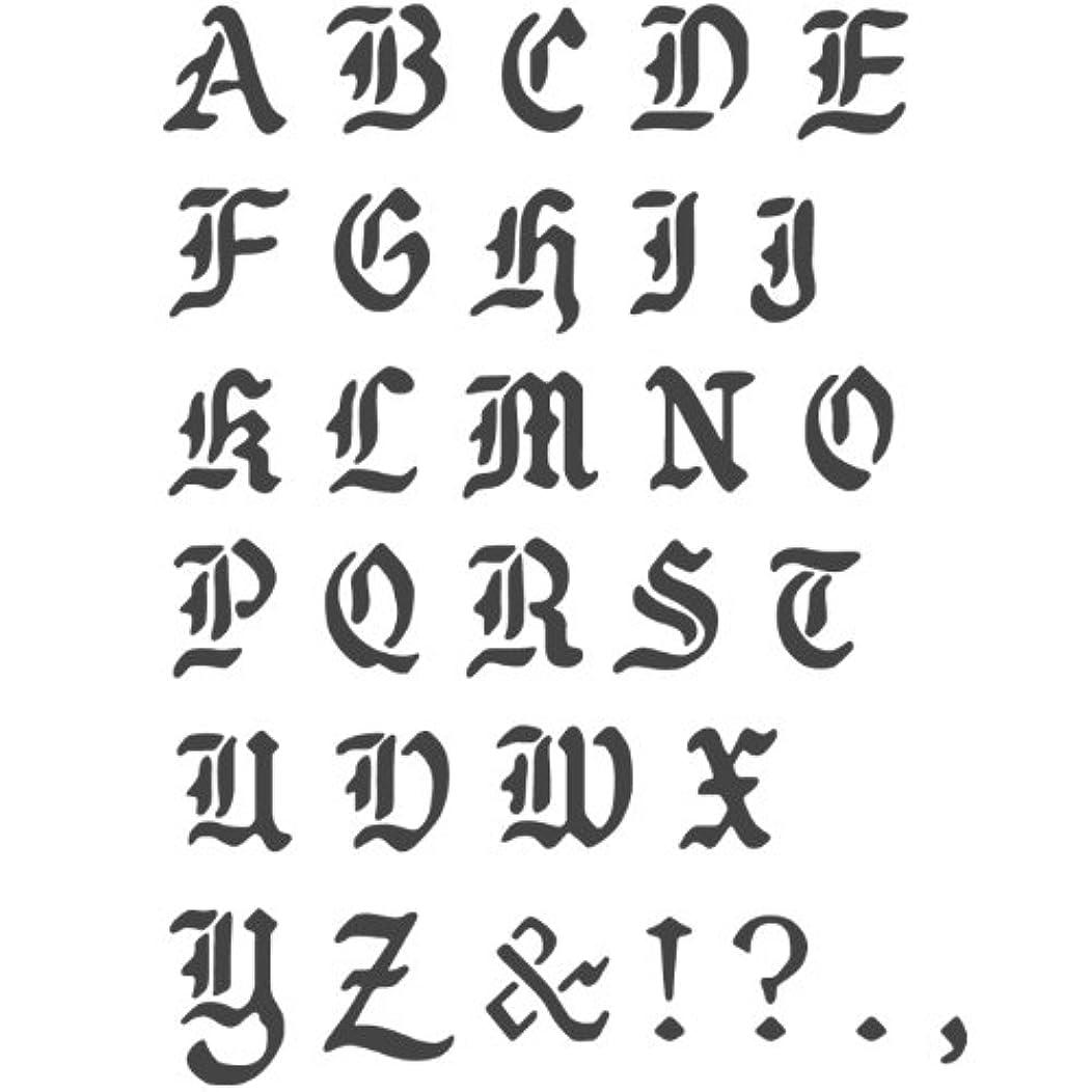 J BOUTIQUE STENCILS Transparent Creative Basic Lettering Stencil Reusable Template, A~Z Alphabet Letters