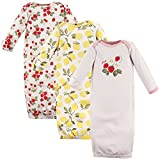 Hudson Baby Unisex Cotton Gowns, Strawberry Lemon, 0-6 Months