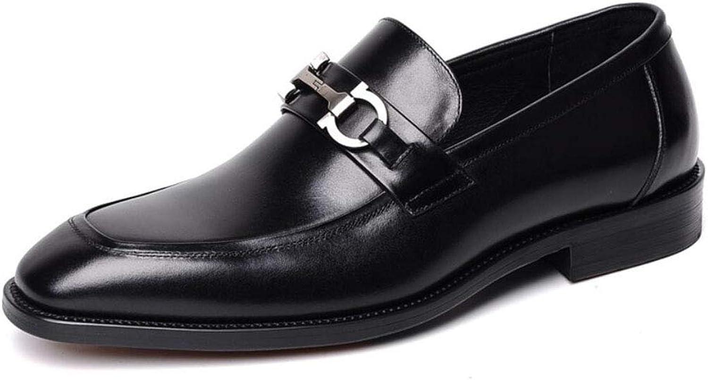Y -H män s Formala skor  Springaa     Fall Oxfords  Business skor  Loafers (Slip -Ons Lazy skor  Office and bilier) (Färg  svart, Storlek  38)  spara upp till 50%