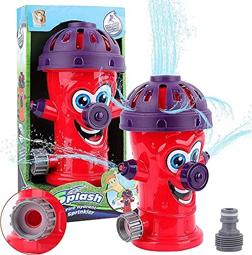 Sunshine smile Sprinkler Spielzeug für Kinder,Hydrant Sprinkler,Wasserspielzeug Sprinkler,Wassersprinkler Garten Kinder,Sprinkler für Outdoor Garten,Wasserspielzeug für Sommer (Hydrant-Rot)