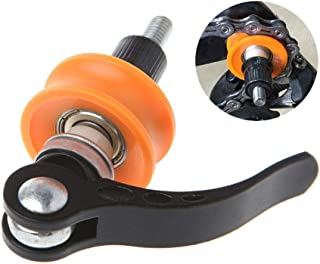 HAMKAW Bicycle Bike Chain Keeper Cleaner, Professional MTB Chain Tensioner Catcher Holder with Nylon Roller Fit Quick Release for Cleaning Maintenance Bicycle Accessory, Dummy Hub Park Tool