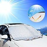 KOROSTRO Frontscheibe Abdeckung, Sonnenschutz Auto Scheibenabdeckung windschutzscheibe Magnet...