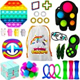 26 Pack Sensory Fidget Toys Set,Stress Relief Hand Toys for Adults Kids ADHD ADD Anxiety Autism, Perfect for Birthday Party Favors, School Classroom Rewards, Carnival Prizes, Pinata Goodie Bag Fillers