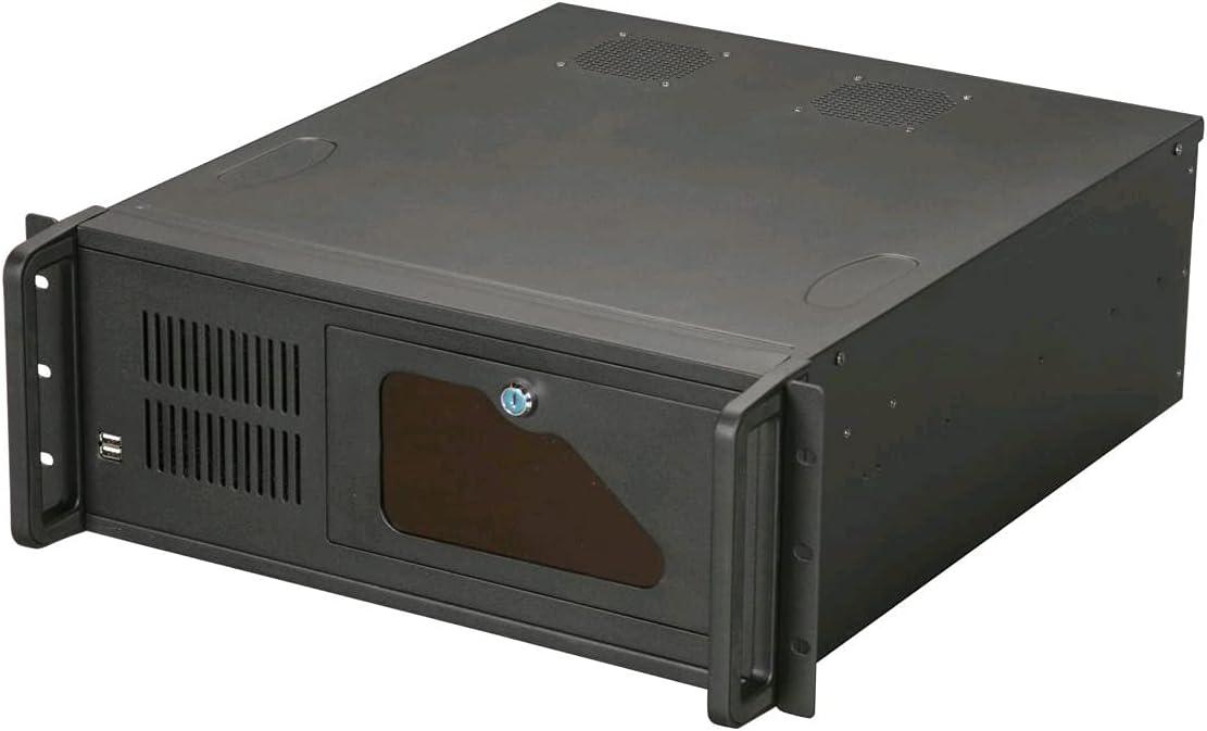 KRI CK4209 Black 1.2mm SGCC 4U Rackmount Server Chassis 2 External 5.25
