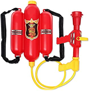 Firefighter Design Water Gun Blaster Double Tank with Hose. Powerful Water Squirt, for Beach, Backyard, Swimming Pool, Out...