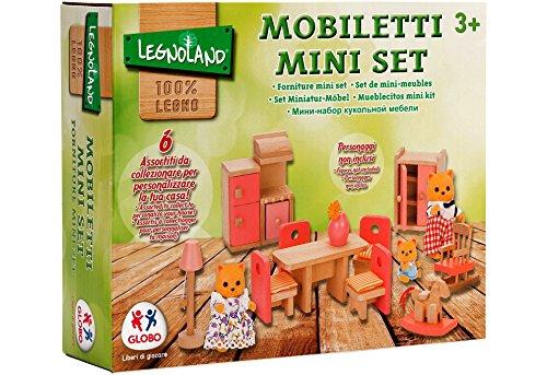 Globo Toys Giocattoli Globo–374416Assortiti Legnoland Mobili in Legno per Bambole, Colore GIOCOGLO187, 1