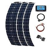 YUANFENGPOWER Panel solar flexible de 150 W, 12 V, 3 paneles...