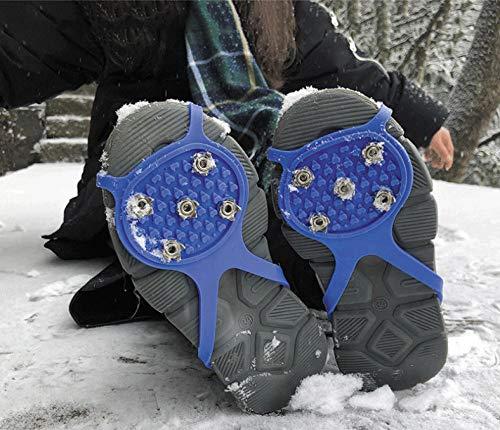 Crampons Boots Schuhspikes Schnee Und EIS,5 Pair Universelle rutschfeste Greiferspitzen Anti-Rutsch-Über-Schuh-Stollen Haltbare Stollen Mit Guter Für Stiefel Schuhe Griffe Überschuh