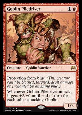 Magic The Gathering - Goblin Piledriver (151/272) - Origins