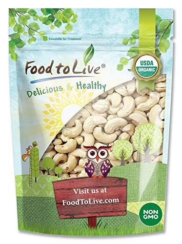 Organic Raw Cashews, 4 Pounds