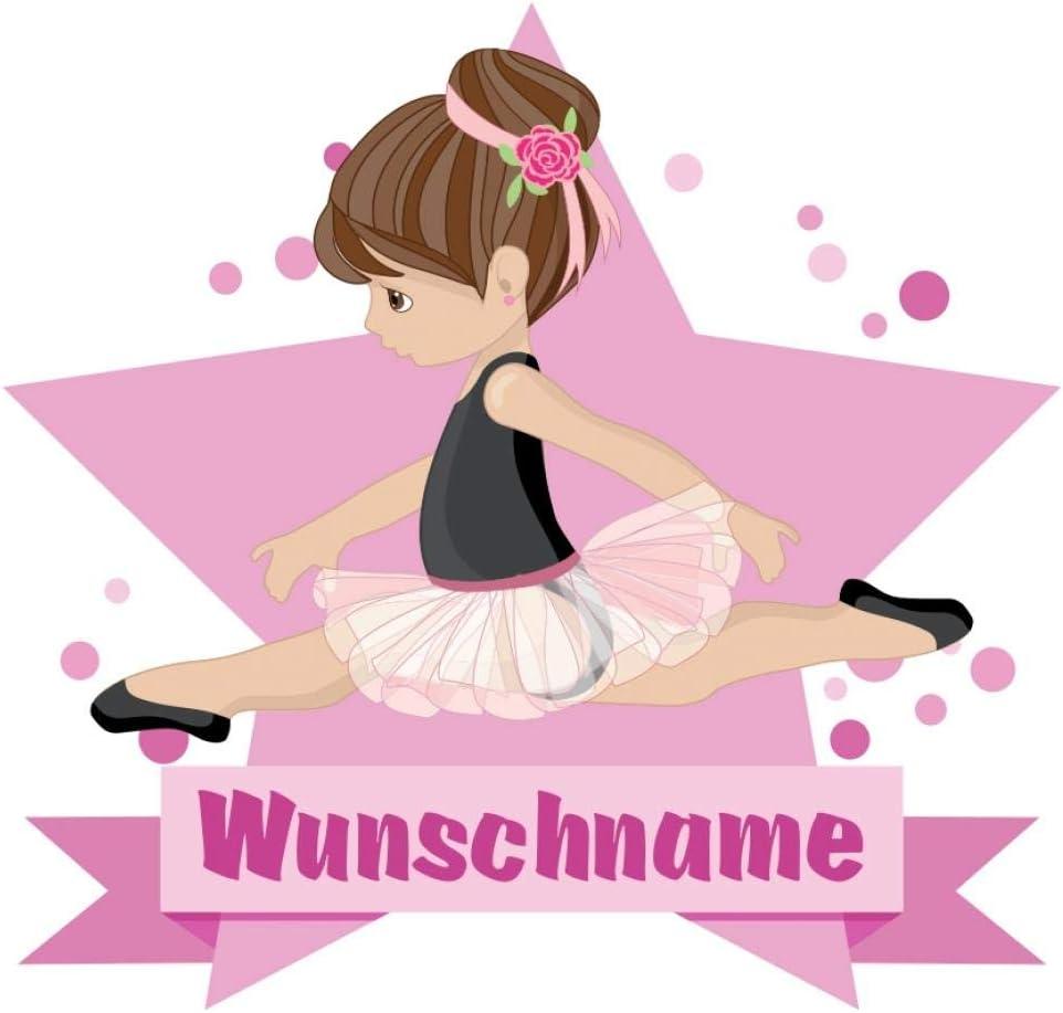 Samunshi Ballerina Aufkleber Mit Namen Autoaufkleber Namensaufkleber Kinder In 7 Größen 15x13 1cm Mehrfarbig Küche Haushalt