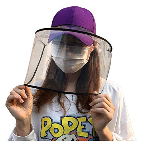 YGbuy Correa Desmontable Sombrero antivaho Gorra Protectora Gorra de béisbol con máscara Protectora Transparente Cubierta Antipolvo Gorra con Visera Tiene Ajustable Anti-Niebla Anti-Saliva