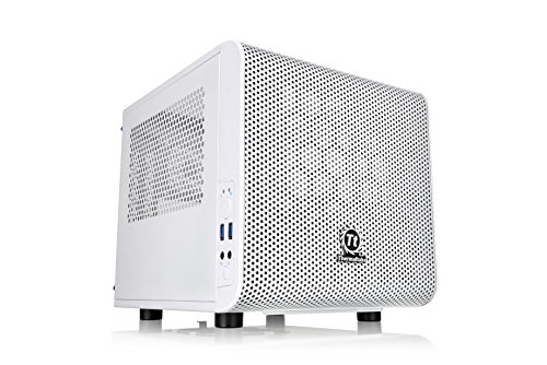 Thermaltake Core V1 Snow Edition - Chassis Mini ITX con ventola da 200 mm, bianco