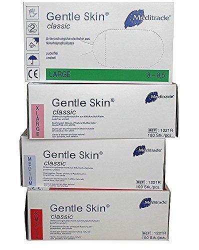 Latex Einmal- / Untersuchungshandschuh, Gentle Skin Classic, Größe XS (1x100 Stück)