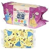ディズニー プリンセス ウェットティッシュ 除菌ノンアルコール 1パック(60枚×3個) レック