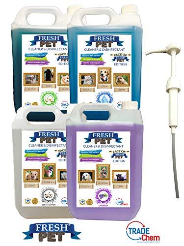 Trade Chemicals - Desinfectante y desodorante para perrera y criadero (4 x 5 L)