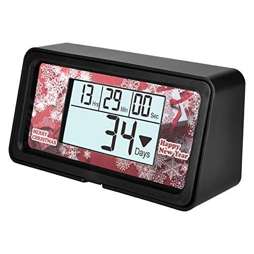 Runleader Digital Temporizador de Eventos de 9999 días, Seguimiento de Cuenta Regresiva, Registro de cronómetro, Calendario y visualización del Reloj, Datos reiniciables para la reunión de
