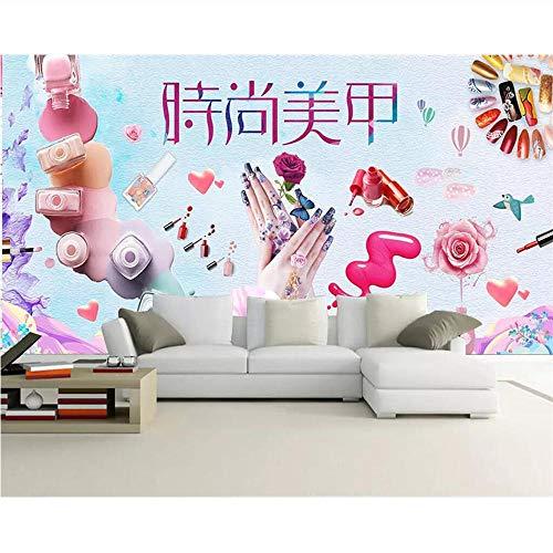 Pmhhc Gepersonaliseerde personalisatie muur foto mode handgeschilderd cosmetica nagelwinkel make-up winkel muur 400 x 280 cm