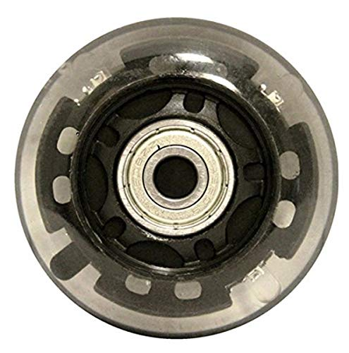 KSS 82A Skate Ripstik Light Up LED Inline Wheels with Bearings (4 Pack), 64mm, Black
