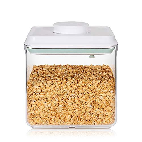 SKY LIGHT Behälter Vorratsdose mit Deckel POP 1700ml Vakuum Stapelbar Frischhaltedosen Aufbewahrungsdose Luftdicht aus Lebensmittelqualität Polyäthylen Müslidosen BPA frei
