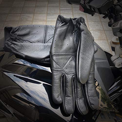 Vaca Piha Lei guantes de cuero de los hombres equipo de resistencia a la caída, negro, S