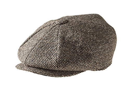 Peaky Blinders Cap - 8 teilig - Wolle - Jungen - Zeitungsverteiler, Braun,