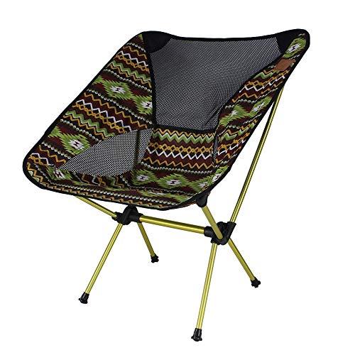 WPCBAA Outdoor aluminium klapstoel ultra licht draagbare maan stoel strand camping vissen recreatieve schets terug kruk