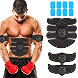 JoJoMooN Muscle Toner Abdominal Toning Belt EMS ABS Toner Body Muscle Trainer...
