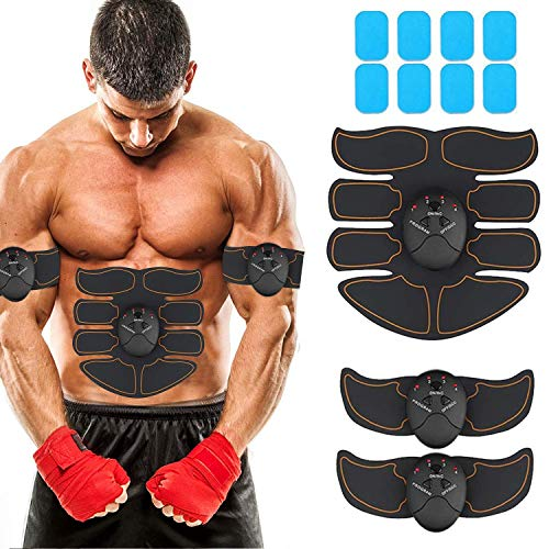 Muscle Toner Abdominal Toning Belt EMS ABS Toner Body Muscle Trainer Wireless Portable Unisex Fitness Training Gear for Abdomen/Arm/Leg Training Home Office Exercise