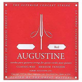scheda augustine classic, corda rossa singola per chitarra classica, red d4