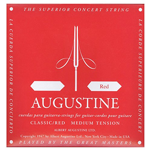 Augustine Classic, Corda rossa singola per chitarra classica, Red D4