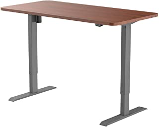 Flexispot Electric Height Adjustable Desk Sit Stand Desk, 48 x 30 Inches, Home Office Table Stand up Desk(Gray Frame + 48 in Mahogany Top)
