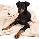 Pawsse Large Dog Blanket, Super Soft Fluffy Sherpa Fleece Dog Couch Blankets and Throws for Large Medium Small Dogs Puppy Doggy Pet Cats