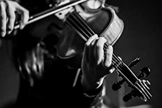Close up of Musician Playing a Violin Black and White BW Photo Art Print Cool Huge Large Giant Poster Art 54x36