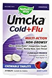 Natures Way Umcka Cold plus Flu Chewable, Berry Flavored, 20 Chewable Tablets. Pack of 1