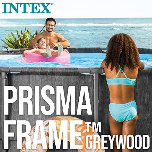 Intex 26742NP - Piscina desmontable INTEX, 457x122 cm, con depuradora cartucho, 3.785 litros/hora, filtro cartucho tipo A, piscina Greywood Prism Frame, 16.805 litros, piscina para 6 personas 10