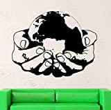 Wall Stickers Vinyl Decal World Environmental Health Earth Nature Green Ecology Wall Sticekr Home Decoration Bedroom Living Room Decor 53x42cm