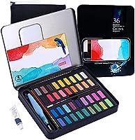 VAGALBOX Pintura de Acuarela, con 36 Colores, Papel de Acuarelas y un Pincel para Artistas,Diseno artistico y Juegos de...