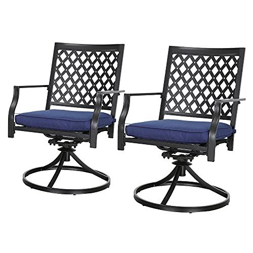 Lokaste Outdoor Patio Rocker Swivel Chairs
