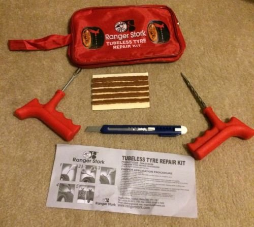 Kit de Reparación para neumáticos Reparador de Pinchazos para Rueda Coche Moto