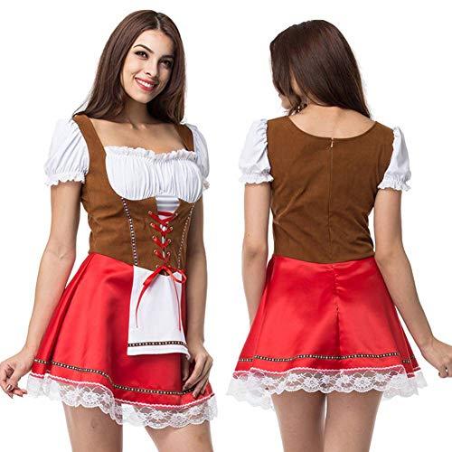 Kostüm für Damen Beer Bar Maid Outfit Adult Cosplay Kostüm Halloween Party Dress Up Drama Dress Large Size