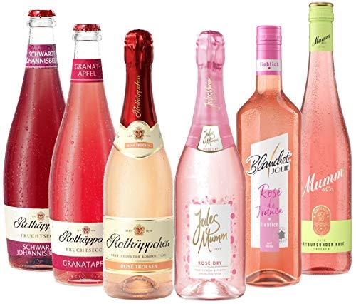 Probierpaket GIRLS NIGHT (6 x 0,75l) – Knallig- Pinke Kombination aus Sekt, Fruchtsecco und Wein für Mädelsabende, Junggesellinnenabschiede oder einfach zum Feiern