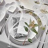 Butlers Piatto Deko-Teller Ø 35 cm - Servierteller in Silber-Optik - Dekorative Schale als Platzteller aus Edelstahl - 2