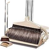 ほうき ちりとり 掃除セット 立つほうき 塵取り 120cm 長さ調節可能 腰を曲げずに掃除……