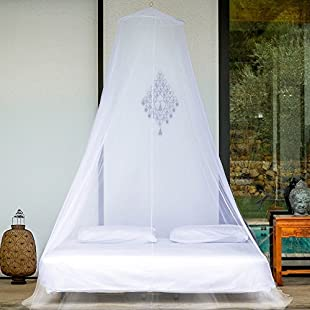 EVEN Naturals MOSQUITO NETS premium MOSQUITO NET for Bed, Twin Queen California King Size, EXTRA LARGE Bed Canopy Curtains, White Mosquito Netting with 2 Openings, Easy Installation & Carry Bag
