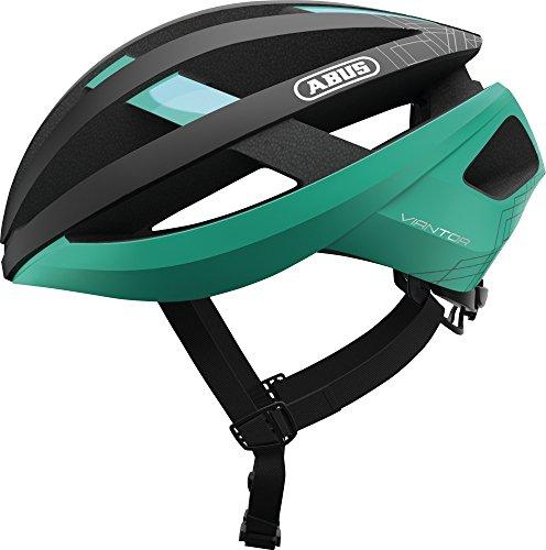 ABUS Viantor Rennradhelm - Sportlicher Fahrradhelm für Einsteiger - für Damen und Herren - 82673 - Türkis/Schwarz, Größe S